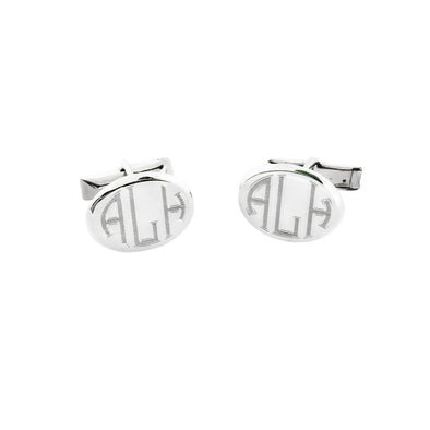 Oval Monogram Cuff Links