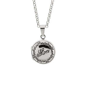 Round Mom Locket Necklace