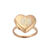 Rose Gold Heart Locket Ring