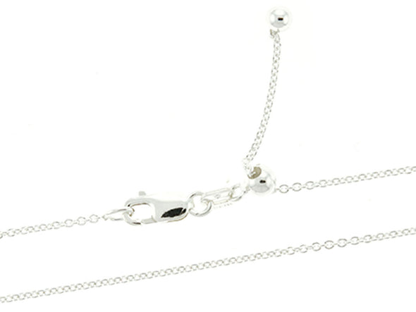 Adjustable 1mm Rolo Link Chain