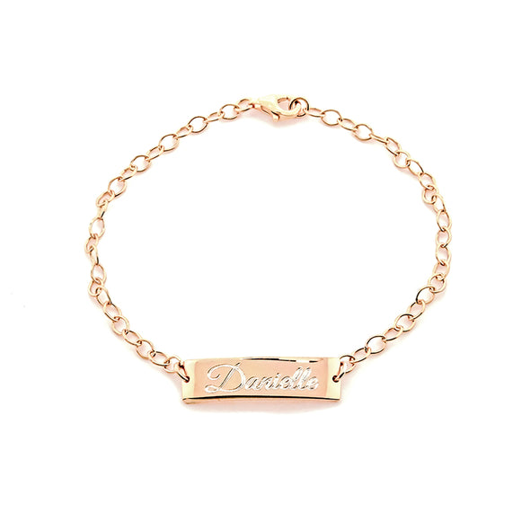 Rose Gold Bar Link Bracelet