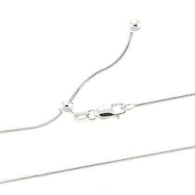 Adjustable 1.1mm Round Snake Chain