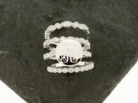 Art Deco Stacking Monogram Ring