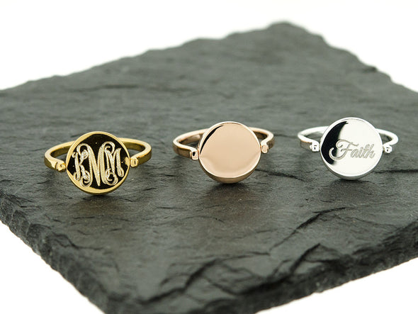 Gold Double Sided Flip Ring
