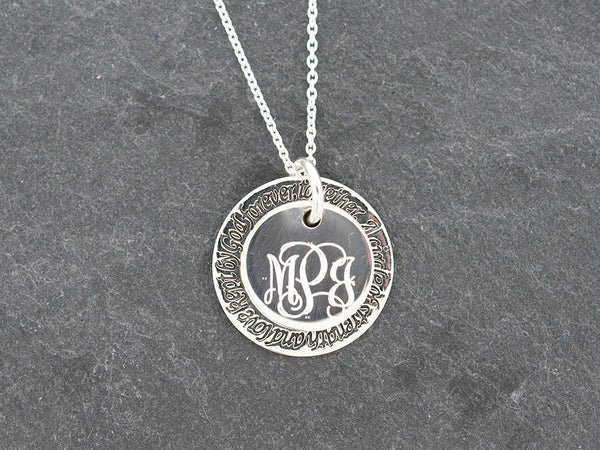 Forever Ring Circle Monogram Necklace