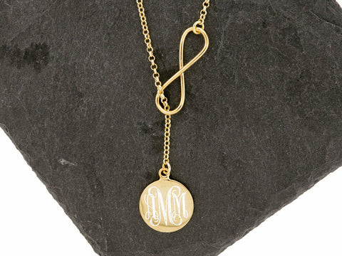 Gold Vermeil Infinity Lariat Necklace