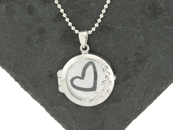 Sterling Knot Antique Magnifying Glass Locket Necklace