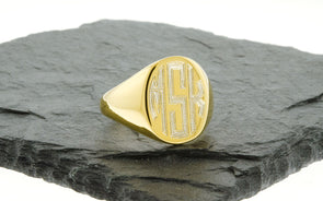 Gold Vermeil Men's Signet Ring