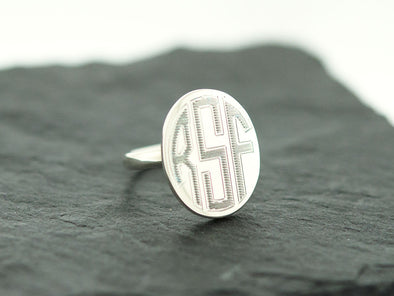 Oval Monogram Ring
