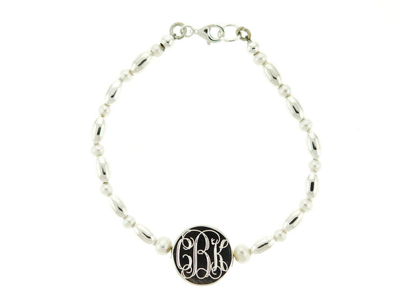 Freshwater Pearl and Bead Monogram Bracelet