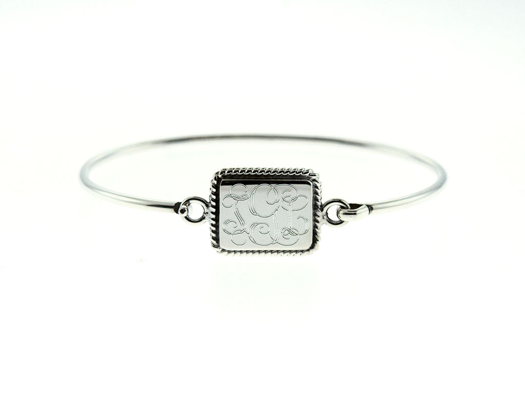 Rectangle Nautical Rope Bangle Bracelet
