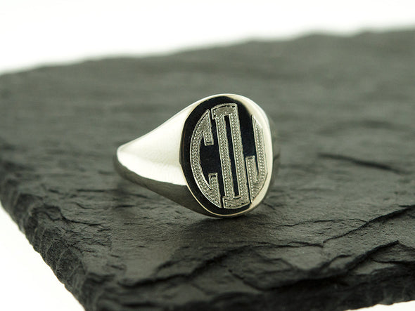 Men's Monogram Signet Ring