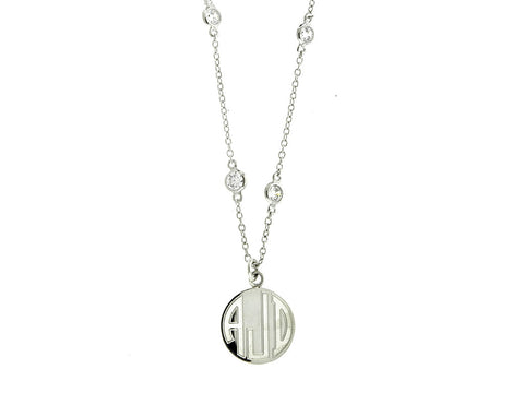 CZ Diamonds by the Yard Monogram Necklace