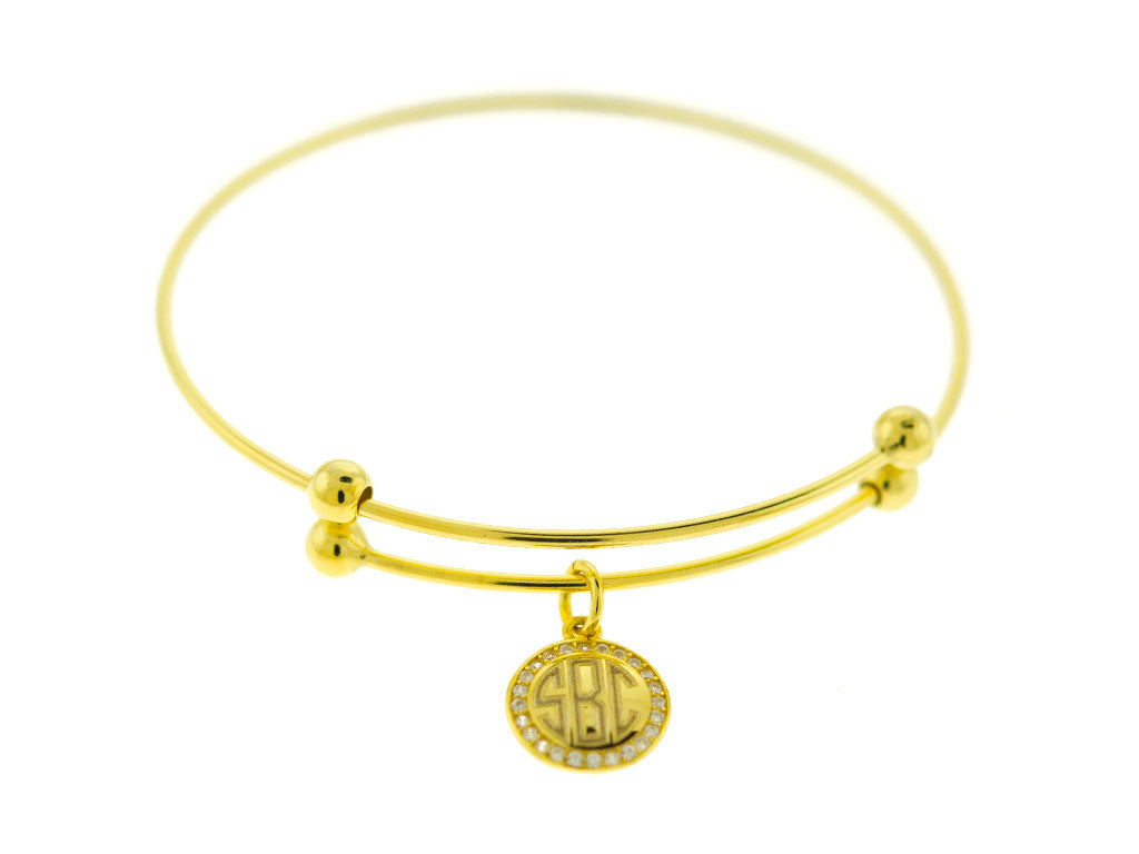 charm amelie engraved rose your own circles bracelet and bloomboutique with bangles bangle create gold personalised original product disk