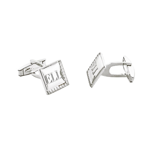 Brushed Satin Square Cuff Links