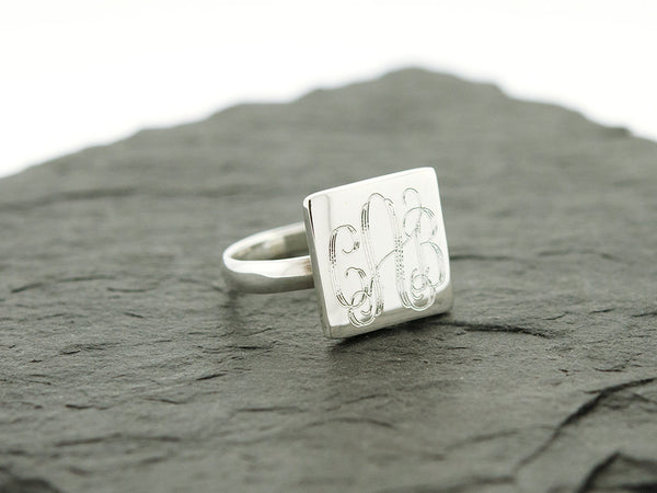 Square Monogram Ring