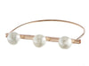 Three Pearl Bangle Bracelet