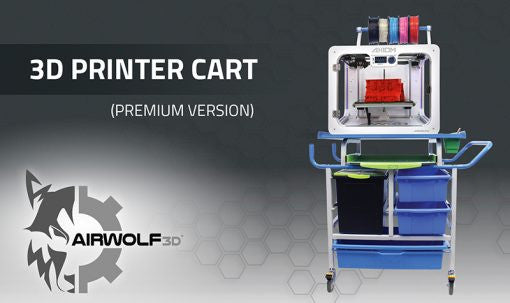Airwolf 3D Printer Cart (Premium Version)