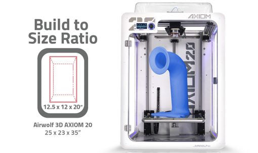 Airwolf 3D AXIOM 20 DUAL Direct Drive 3D Printer