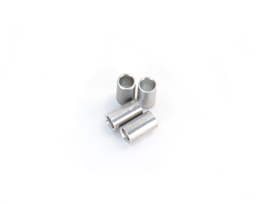 Lulzbot Aluminum Spacer, 4.5mm OD, 8mm Length (x4)