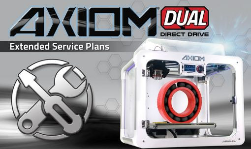 Airwolf 3D Axiom Dual Direct Drive 3D Printer - Service Plan