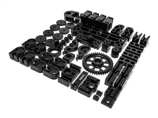 Velleman MP8200SET/SP: Black Plastic Spare Parts for K8200 3D Printer