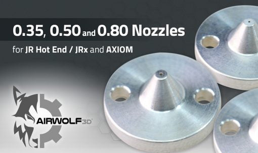 Airwolf 3D Interchangeable Nozzle With 0.35, 0.50 and 0.80mm Orifice for JR Hot End / JRx