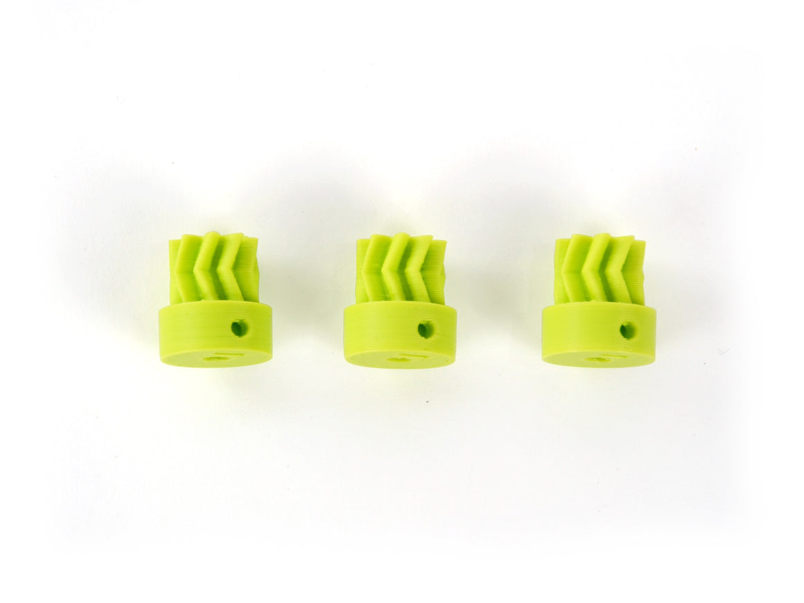 Lulzbot Small Herringbone Gear, LulzBot Green (x3)