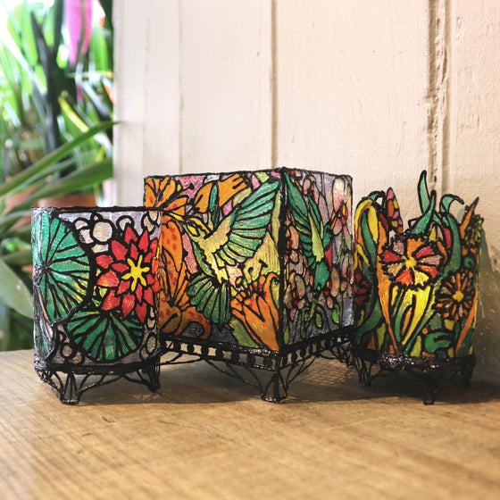 3Doodler Create 3D Pen Project Kits - Tiffany Candle Holders