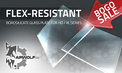 Airwolf 3D BOGO Flex-Resistant Borosilicate Glass Plate for HD / XL Series