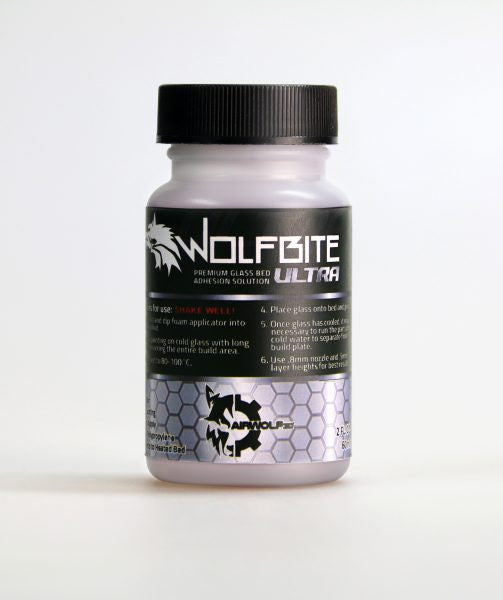 Airwolf 3D Wolfbite Ultra Premium Glass Bed Adhesion Solution for Polypropylene