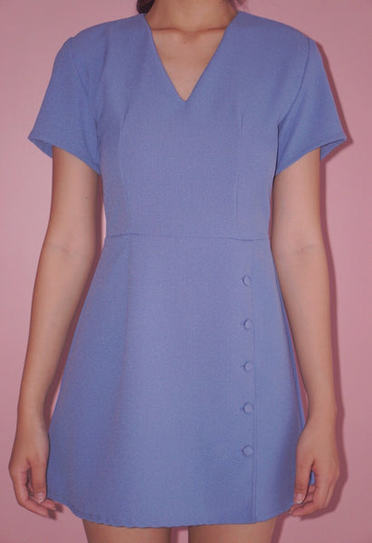 Billie Mini Dress (Cornflower Blue)