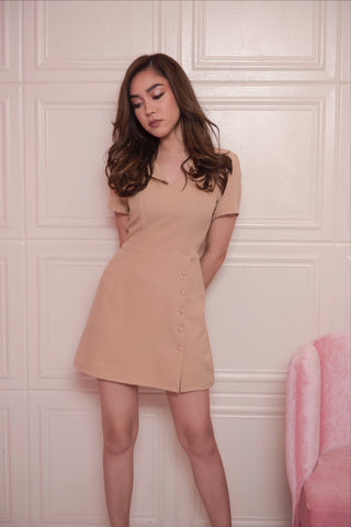 Billie Mini Dress (Tan)