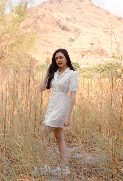 Willow Mini Dress (White)