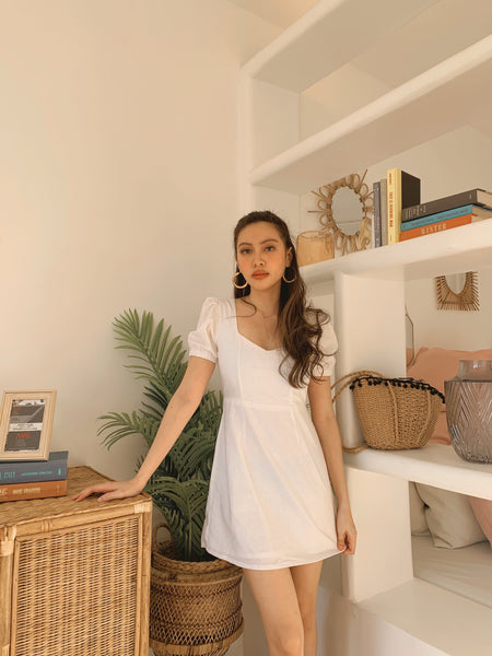Irene linen dress (WHITE)