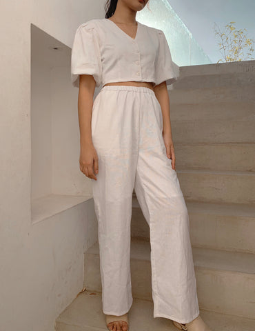 Tulum linen pants (WHITE)