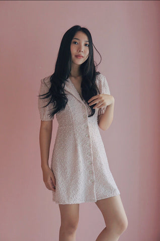 Willow Mini Dress (Blush Pink)