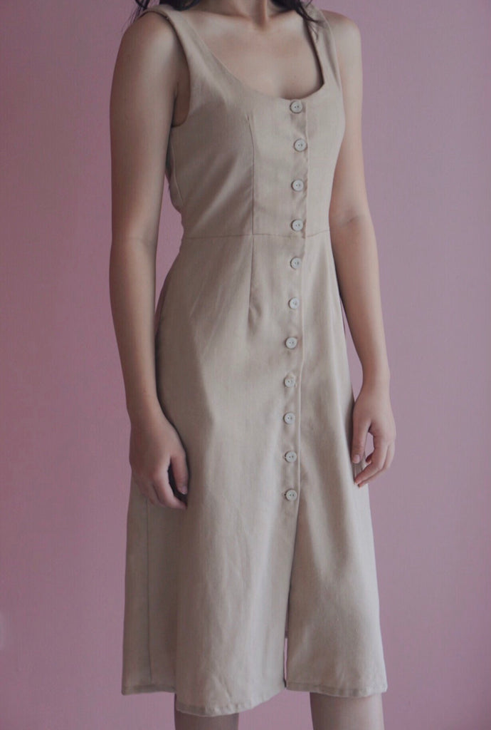 Athena Linen Dress