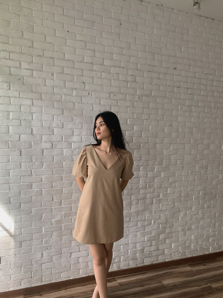 Alicia Lounge dress (KHAKI)