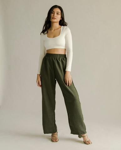 Frances Pants (FOREST GREEN)