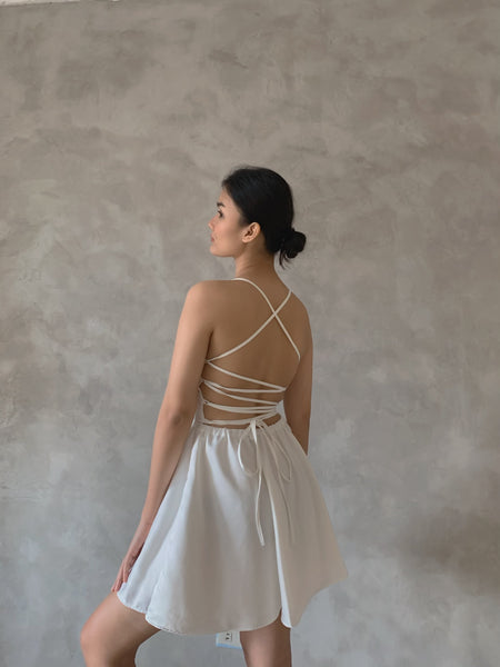 Clementine Silk dress (FOR PRE-ORDER: WHITE)