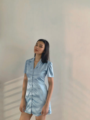 Bailey silk dress (POWDER BLUE)