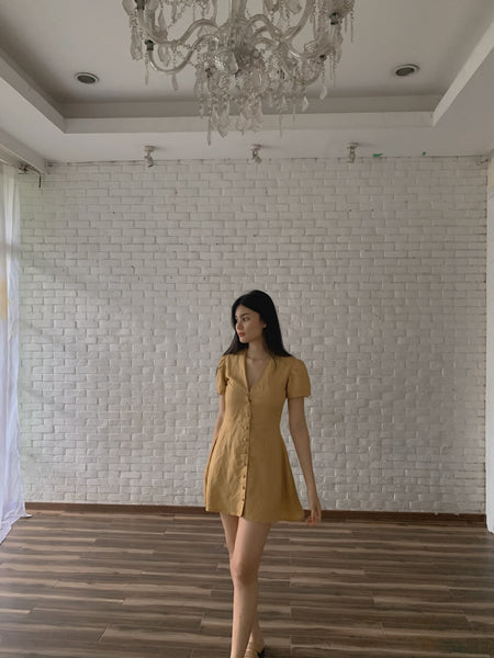 Jasmine dress (YELLOW GOLD)