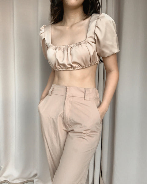 Renee silk top (TAN)