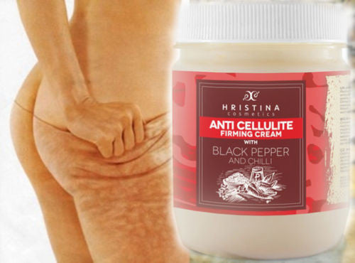Hot Chilli Anti Cellulite Cream with Black Pepper Deep Effect 200ml FAST SHIP.