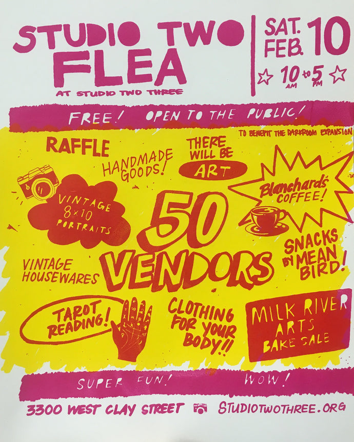 STUDIO TWO FLEA FEB. 10TH 10-5PM