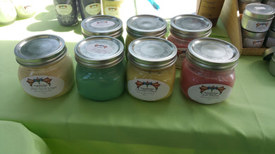 100% Soy Wax Candles 16 oz Mason Jar w/Lid