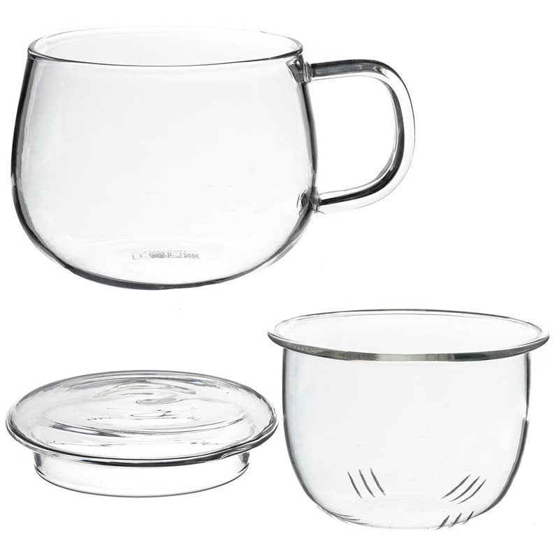 320ml 80x80x85mm Clear Heat Resistant Tea Cup With Tea Infuser Filter