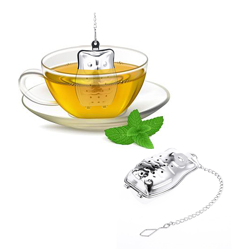 Stainless Steel Owl Shaped Tea Infuser