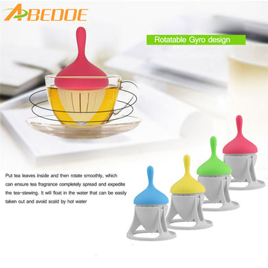 Tea Infuser Silicone Tea Gyro Filters Rotating Floating Function